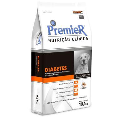Ração Premier Cães Adultos Médio E Grande Porte Nutrição Clínica Diabetes 10,1 Kg