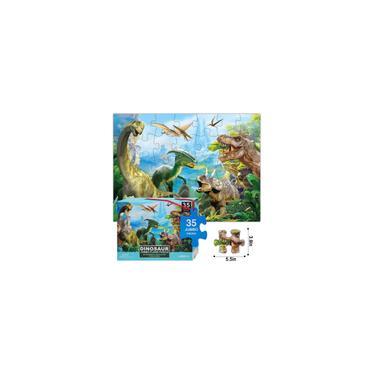 Imagem de Quebra-cabeça de dinossauro jigsaw para crianças idade 3-5 4-8 anos de idade, 35 peça Jumbo Toddler Chão Quebra-cabeça para kid boy menina aprendendo caixa de presente de brinquedo educacional