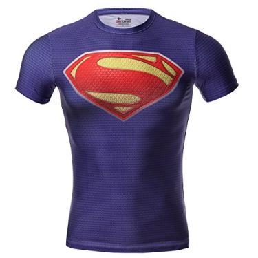 Imagem de Camiseta Masculina Red Plume, Compressão, Série Super-Hero, G