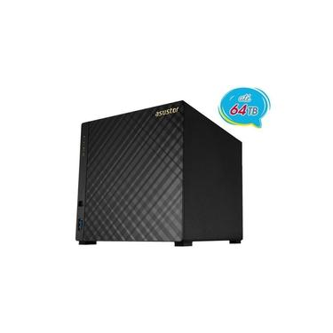 Sistema De Backup Nas Asustor As1004t V2 Marvell Armada 385 1,6 Ghz 512mb Ddr3 Torre 04 Baias