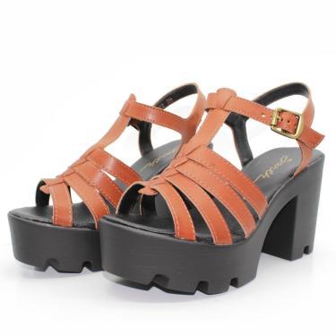 Sandalia Barth Shoes Misty Caramelo  feminino