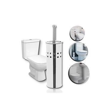 Escova Vaso Sanitário aço inox Higiênico banheiro Suporte