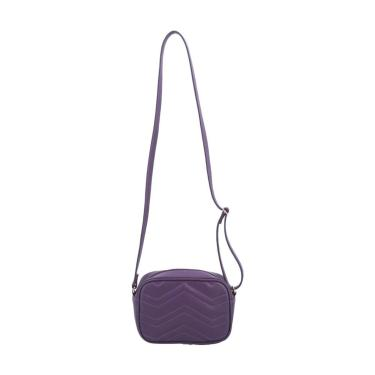 Bolsa Matelassê Feminina de Sintetica com Alça Transversal Bolsa Matelassê Feminina de Sintetica com Alça Transversal Roxo  feminino