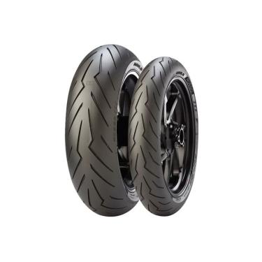 Pneu Pirelli Diablo Rosso 3 200/55-17 + 120/70-17 Combo
