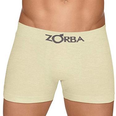 75ad48074 Cueca Boxer Zorba Algodão Sem Costura 781 G Amarelo