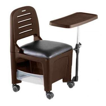 Cadeira Mesa Manicure Cirandinha Bari Tabaco - Dompel