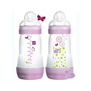 Kit Duas Mamadeiras First Bottle Mam - 260 Ml Girls