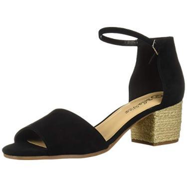 Imagem de Bella Vita sandália feminina com alça de quatro pés, Black Kidsuede Leather, 5.5