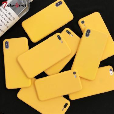 Amarelo fosco caso de telefone para samsung galaxy s20 fe ultra s10 s10e s9 s8 s7 s6 borda nota 20