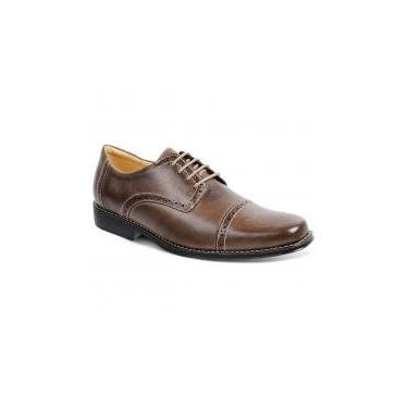 Sapato social para pés largos masculino oxford sandro moscoloni wilbert (vintary) marrom brown - 43 -