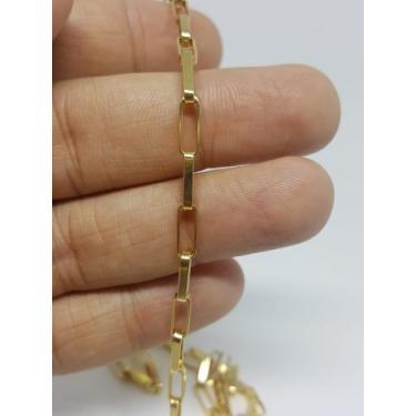 Corrente Cordão Ouro Masculino 18k 750 Grossa 4mm Cadeado - Dg present