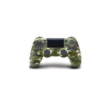 Controle Sem Fio Ps4 Wireless Camuflado Verde Double Shock