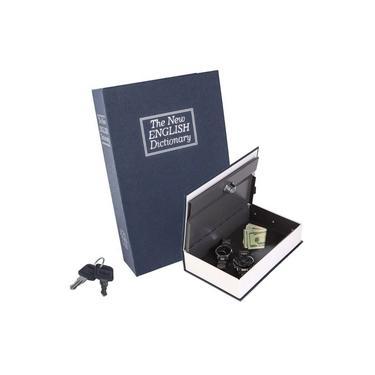 Cofre Camuflado Livro Dicionário 2 Chaves Porta Jóias