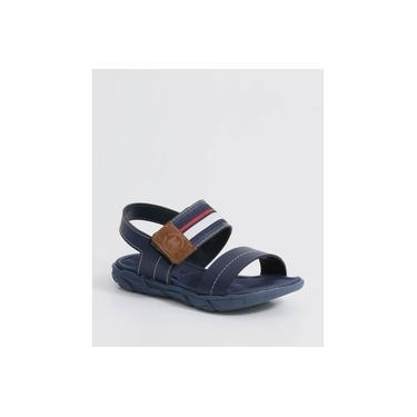 Sandália Infantil Listrado Velcro Molekinho