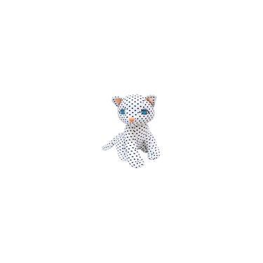 Imagem de Gato Branco Sentado Com Pintas Pretas 41cm - Pelúcia