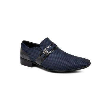 Sapato Social Jota Pe 73110 Azul Marinho