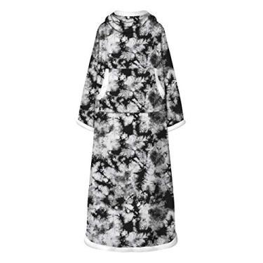 Doufine Vestidos femininos quentes com estampa tie dye de manga comprida e estampa digital, As2, One Size