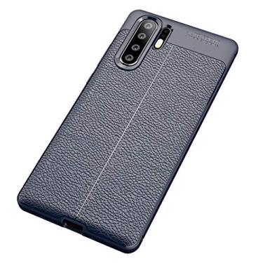 Homyl Novo Caso De Capa De Telefone De Silicone Macio Para Huawei P30 Pro 4 Cores Elegantes - Azul escuro