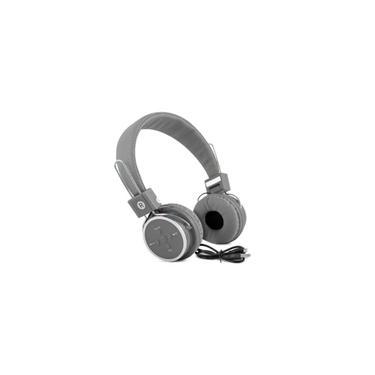 Headfone Bluetooth Sem Fio Micro Sd Fm P2 Kp-367 Cinza