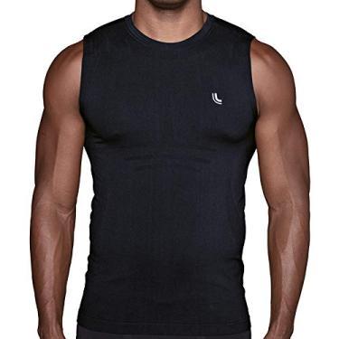 Camiseta Térmica Run, Lupo, Masculino, Preto, G