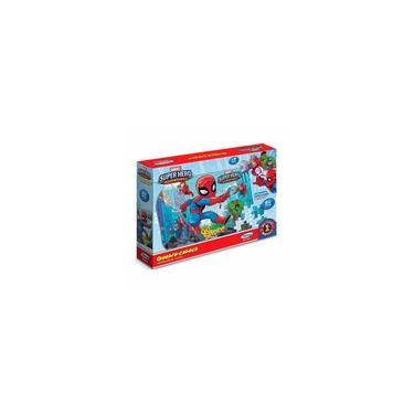 Imagem de Brinquedo Infantil Jogo Quebra Cabeça Super Hero Adventures 60 Peças Xalingo