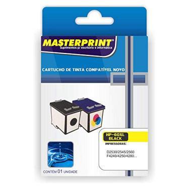 Cartucho Compatível HP 60 XL Black Masterprint 13ml