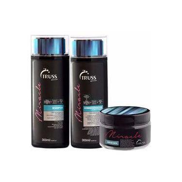 Truss Miracle Kit Shampoo 300ml  + Condicionador 300ml + Máscara 180g