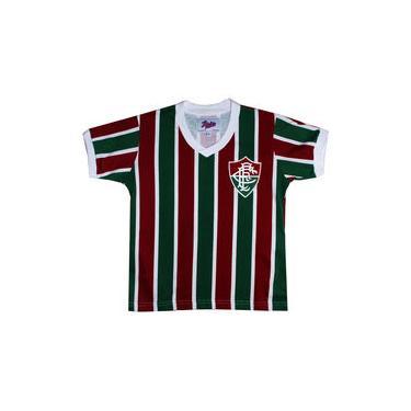 Camisa Liga Retrô Fluminense Mundial 1952 Infantil