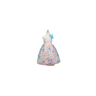 RainmallMeninas Confortvel mangas Dress Flower pontos impressos Vestido 110CM