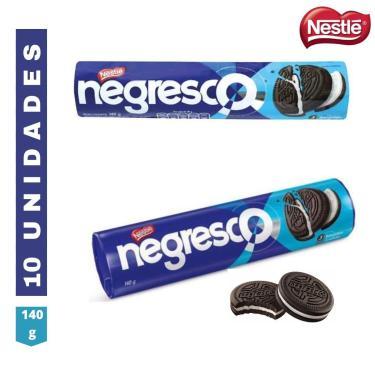 Kit 10 Bolacha Biscoito Recheado Baunilha Negresco Nestlé 140G
