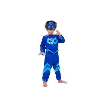 Imagem de Fantasia PJ Masks Menino Gato Connor Infantil Longa Com Máscara Disney