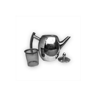 Imagem de Chaleira Bule Com Infusor Aço Inox Chá 1 Litro Sofisticação