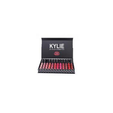 Kylie 12 cores portátil Matte Batom Kit Hidratação Lip Rouge Gift Set Om