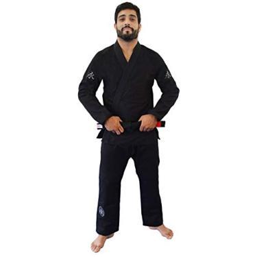 Kimono Jiu Jitsu Balance Keiko Unissex, Preto, A3L