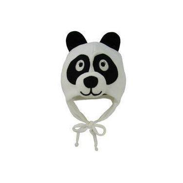 4024e43a60088 Touca Bebê Masculina Plush Branco Panda