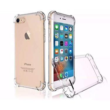 Capinha Silicone Transparente Antichoque Iphone 5 5S 5C