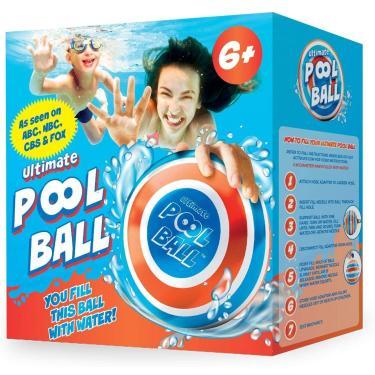 Imagem de A ÚLTIMA BOLA DE PISCINA - Você enche esta bola com água para jogar jogos subaquáticos - Drible o fundo da piscina e passe sob a água para diversão de verão sem fim com amigos e família - Ultra-Durável e Brilhante