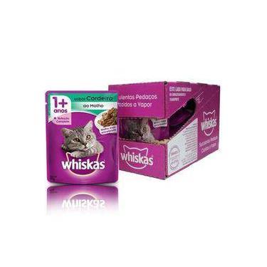 Whiskas Sachê Para Gatos Sabor Cordeiro - Alimento Úmido Caixa 18 Unidades De 85g