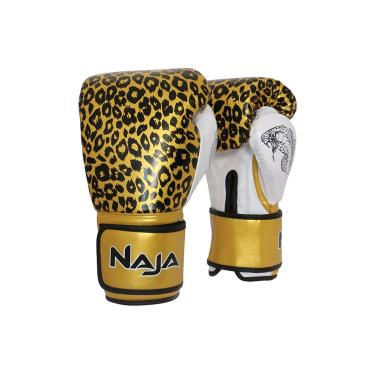 344c0e080 Luva de Boxe Animal Print Onça Ouro - Naja - 14 OZ