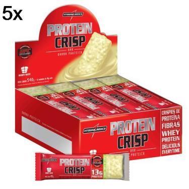 Kit 5X Protein Crisp Bar - 12 Unidades 13g Torta de Limão - IntegralMédica