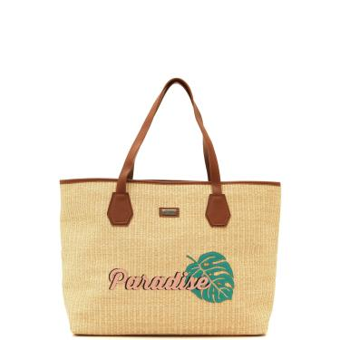 a2eb377f0 Bolsa Sacola Santa Lolla Paradise Caramelo/Bege Santa Lolla  0453.1C29.0256.0026 feminino