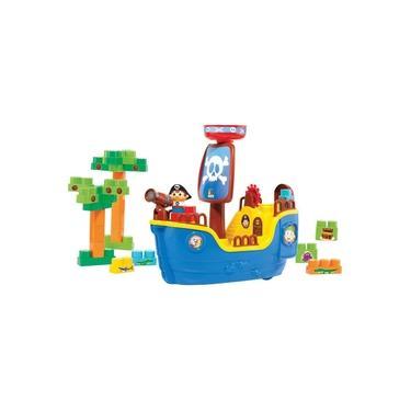 Brinquedo Educativo Navio Pirata Baby Land C/30blo Cardoso