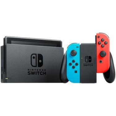 Nintendo Switch 32GB 1 Controle Joy-Con - Vermelho e Azul