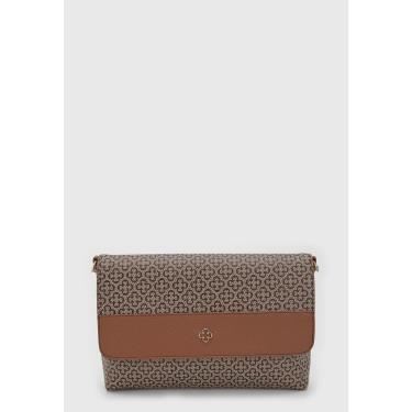 Bolsa Capodarte Monograma Marrom/Caramelo Capodarte 4602967 feminino