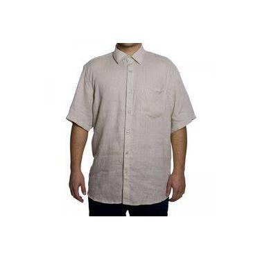 9a8676a7b7 Camisa Masculina Luiz Eugenio Linho Manga Curta 14007