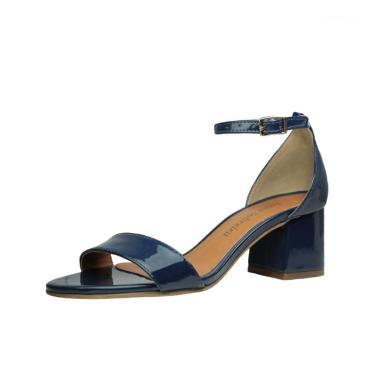 Sandália Salto Baixo Grosso Luiza Sobreira Verniz Azul Marinho Mod. 2015  feminino