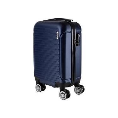 Mala de Bordo para Viagem em ABS Yins 21072 Rodas Removíveis Duplas Cadeado Integrado Tam PP - Azul