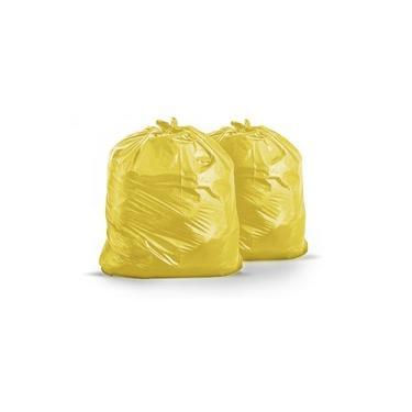 Saco De Lixo 40 Litros 50x55cm C/100 Un Amarelo Leve