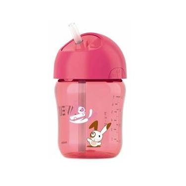 Copo Infantil com Canudo Phillips Avent Rosa SCF760/00 – 260 ml
