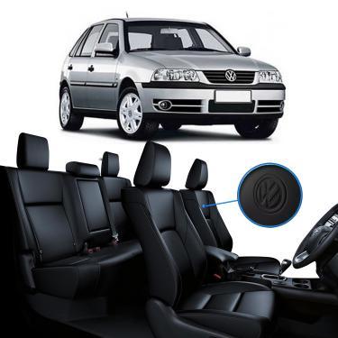 Imagem de Capa Banco de Couro Preto Volkswagen Gol G3 e G4